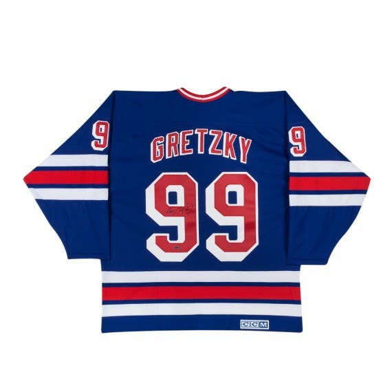 Wayne Gretzky Signed Home New York Rangers Jersey
