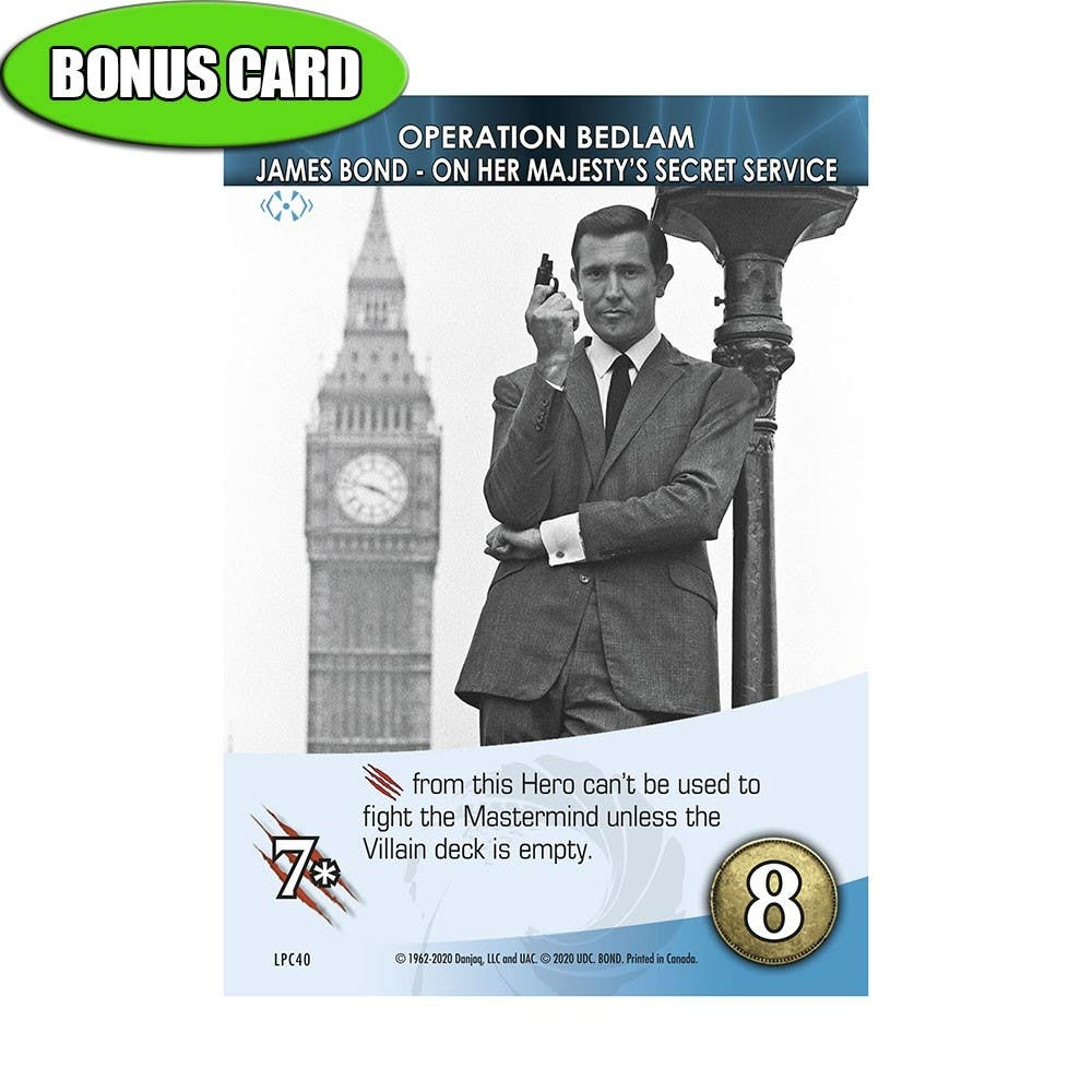 James Bond Alternate Art Bonus Card