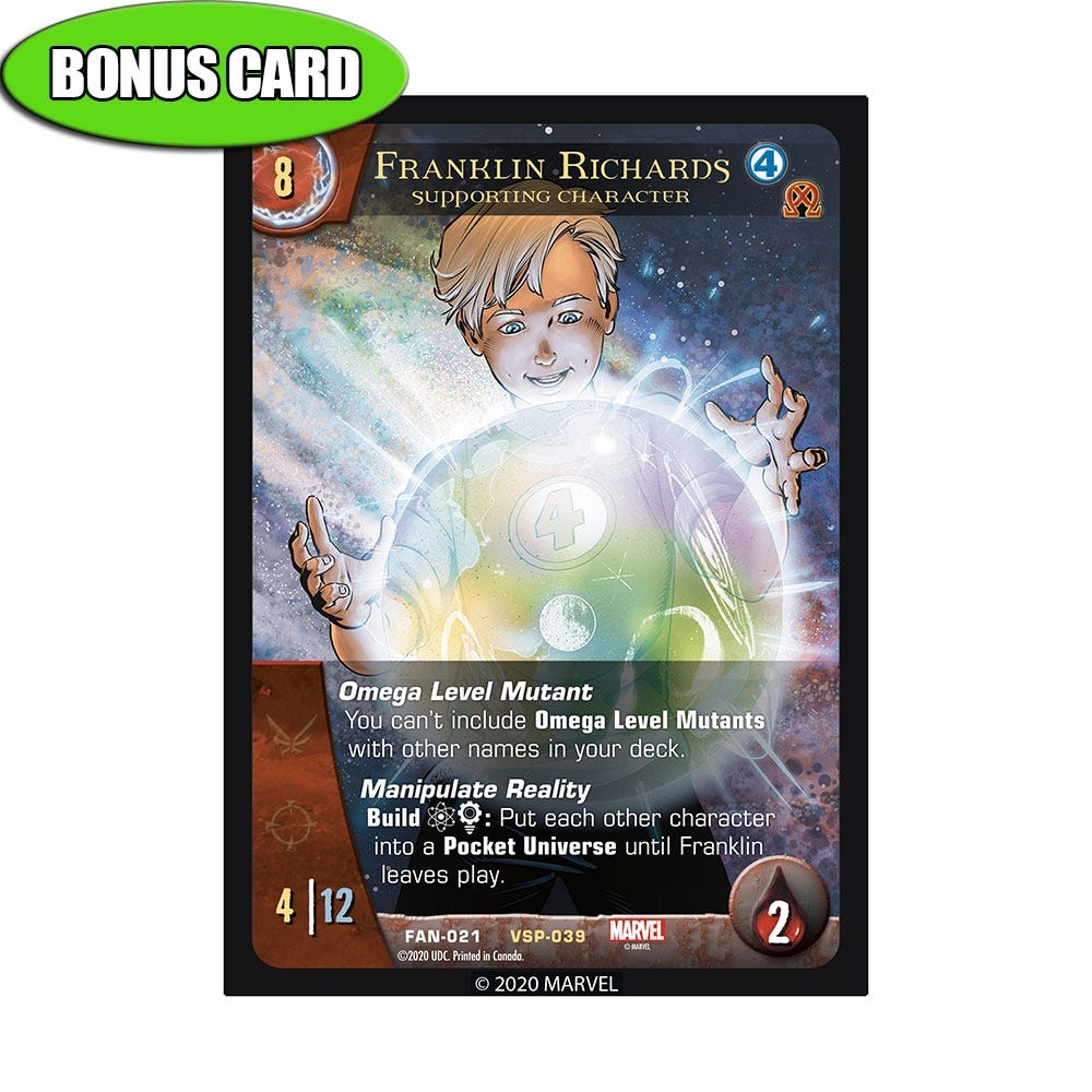 Franklin Richards Alternate Art Bonus Card