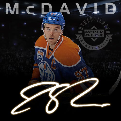 The Connor McDavid Signature Hockey Collections