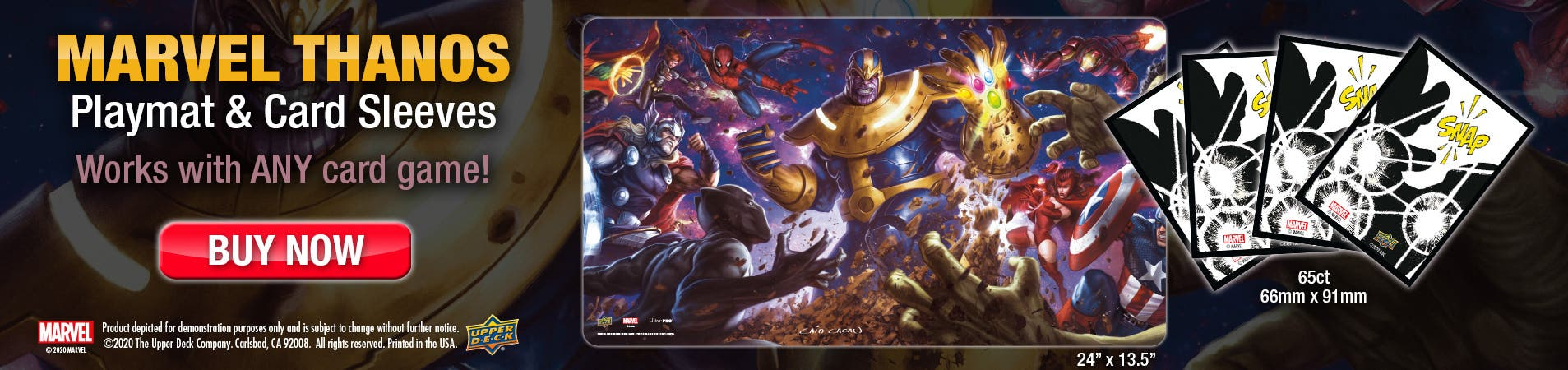 Marvel Thanos Playmat now available Use with ANY game!