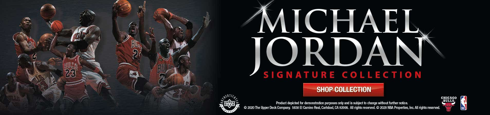 Browse Michael Jordan's Signature Collection Exclusively by Upper Deck!
