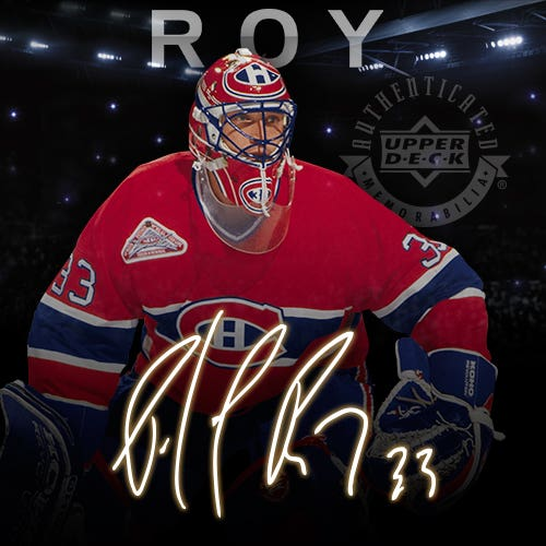The Patrick Roy Signature Memorabilia Collection